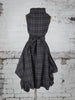 Grey Tartan Trench Dress