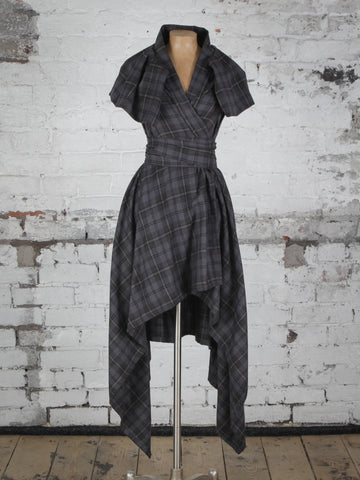 Grey Tartan Heather Dress