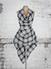 Black and White Tartan Alice Maxi Top