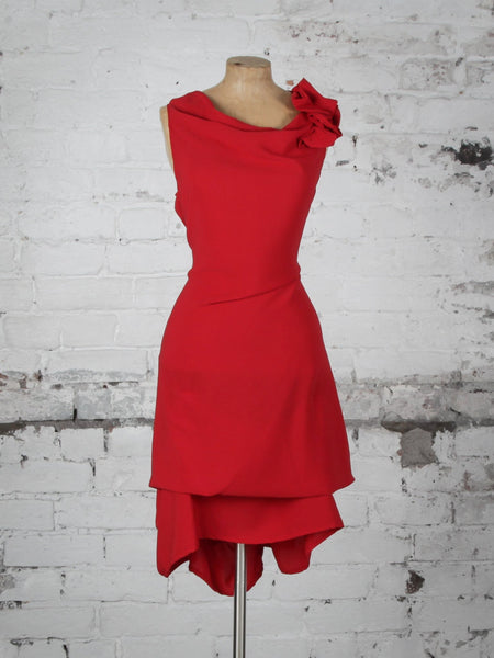 Bright Red Anna Dress