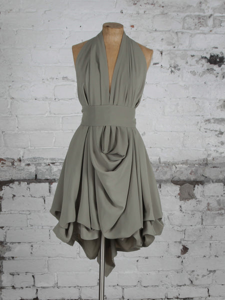 Dusky Mint Emma Cowl Dress