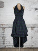 Navy and Green Tartan Alice Dress