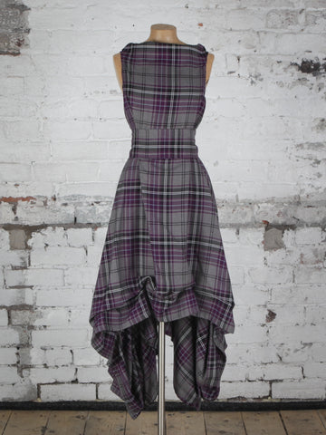 Grey and Purple Tartan Wendy Dress