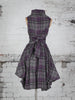 Grey and Purple Tartan Trench Dress