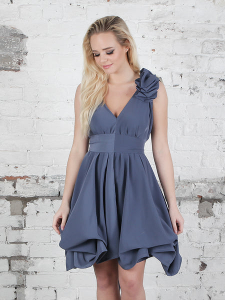 Gunmetal Georgie Dress