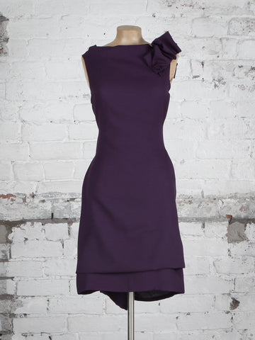 Purple Linen Look Anna Dress