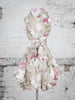 Taupe Elsie Floral Trench Dress