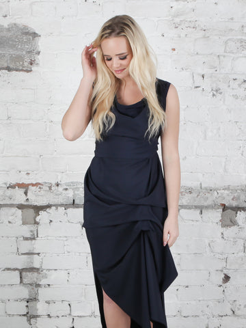 Navy Willow Dress