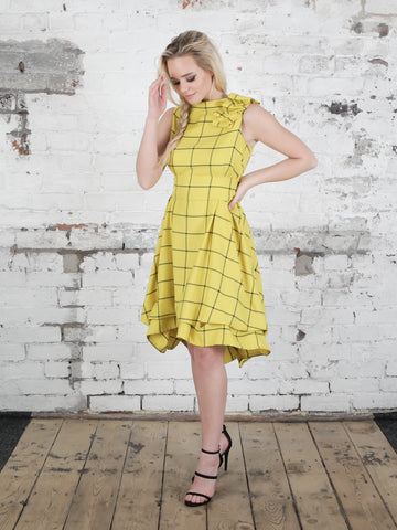 Yellow Barclay Check Mia Dress