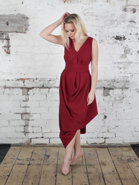 Deep Red Poppy Dress
