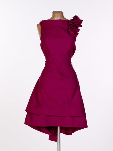 Plum Cotton Bradley Dress
