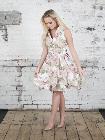 Elsie Floral Trench Dress