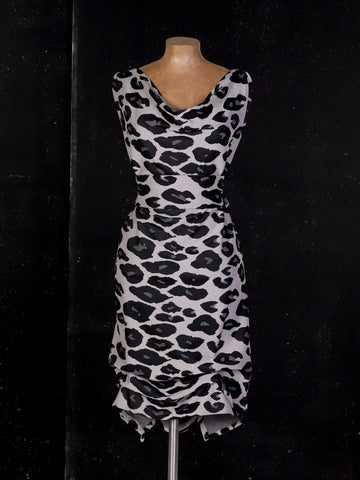 Grey Animal Print Tiffany Dress