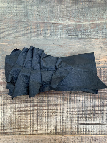 Black Leather Clutch Bag - 034