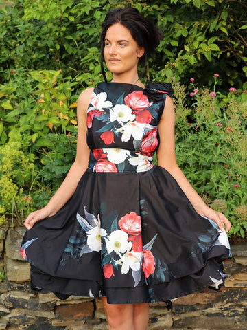 Black Lizzie Floral Mia Dress