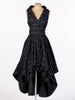 Navy and Red Tartan Asymmetric Harlow Dress