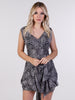 Charcoal Lace Sofia Mini Dress