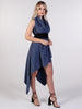 Gunmetal and Black Asymmetric Miller Dress