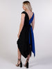 Black and Royal Blue Asymmetric Miley Dress