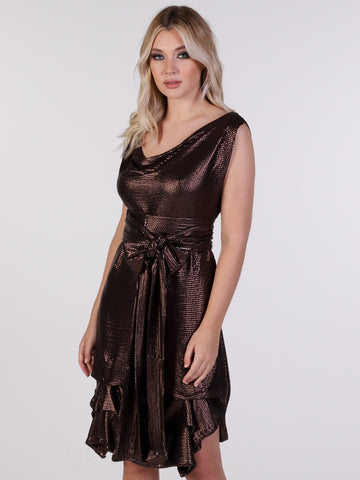 Bronze Sequin Tiffany Dress
