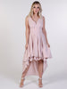 Nude Asymmetric Harlow Dress