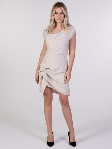 Kamila Jersey Hitched Mini Dress