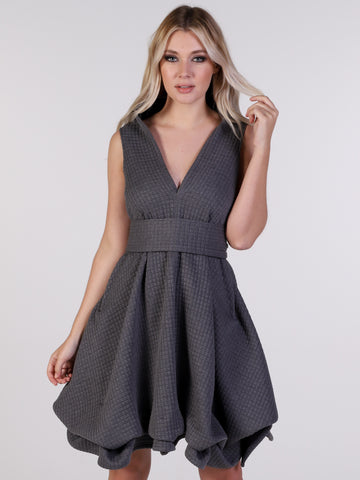 Grey Sports Luxe May Mini Dress