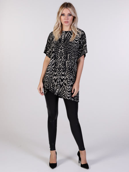 New York Print Hitched T-shirt Dress