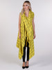 Yellow Barclay Check Drape Waterfall Waistcoat