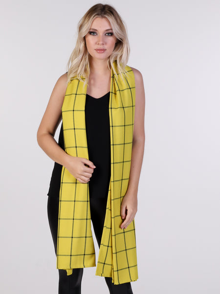 Yellow Barclay Check Scarf