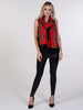 Bright Red Tartan Scarf