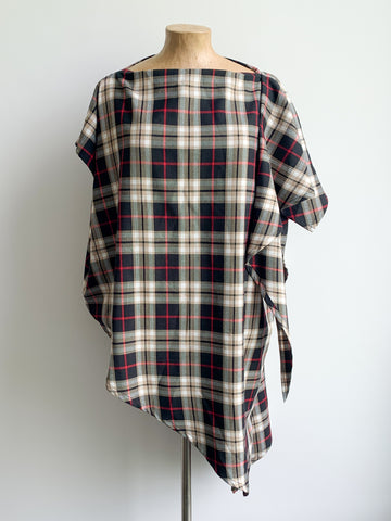 Black and Beige Tartan Harper Top