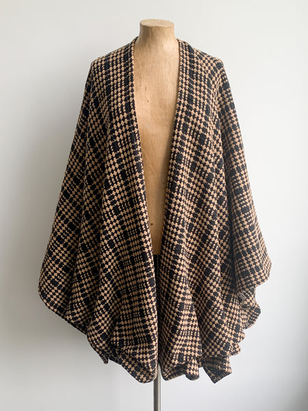 Wool Wrap Cape Coat