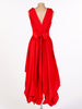 Bright Red Asymmetric Wendy Dress