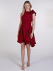 Deep Red Mia Sleeveless Mini Dress