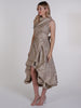 Champagne Floral Asymmetric Wendy Dress