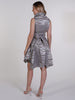 Silver Zara Print Trench Wrap Dress