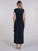 Navy and Green Tartan Willow Maxi Dress