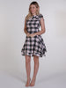 Black, White and Red Tartan Mia Mini Dress