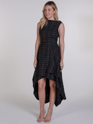 Navy and Red Tartan Wendy Dress