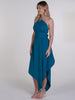 Teal One Shoulder Belle Dress