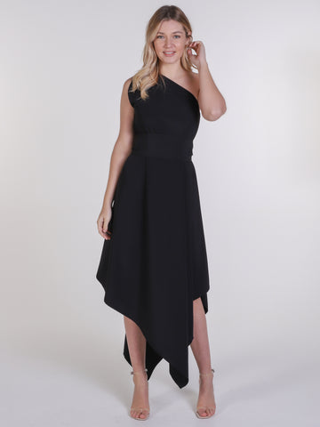 Black  One Shoulder Belle Dress