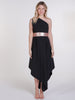 Black Belle Dress With Rose Gold Sequin Belt