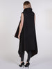 Dark Brown Wool Drape Waterfall Waistcoat