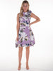 Lilac Floral and Leopard Print Mia Dress