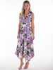Lilac Floral and Leopard Print Darcy Midi Dress