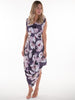 Grape Compote Floral Poppy Dress