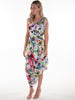 Cream Painted Watercolour Poppy Dress