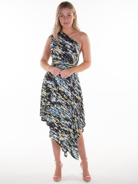 Lime Portia Print Belle Dress