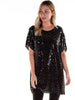 Shimmer Star Hitched T-Shirt Dress